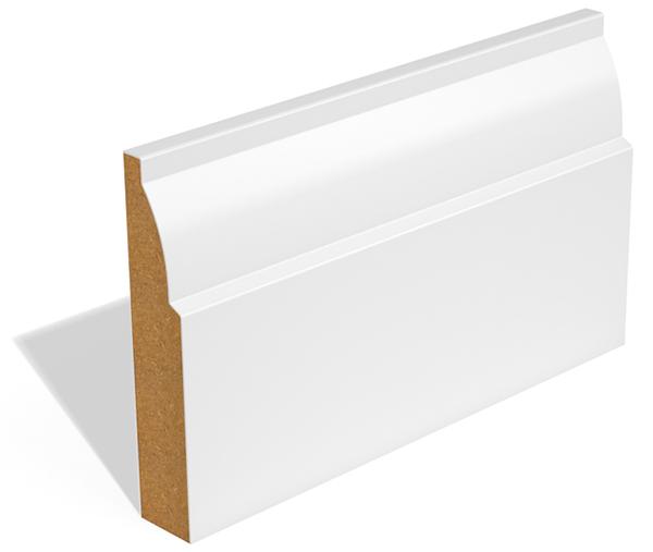 Mẫu phào gỗ chân tường màu trắng