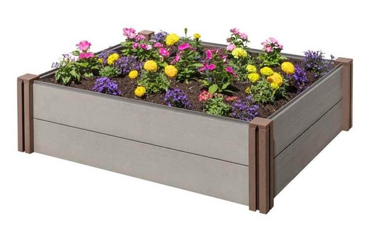 Chậu hoa làm từ gỗ nhựa ngoài trời