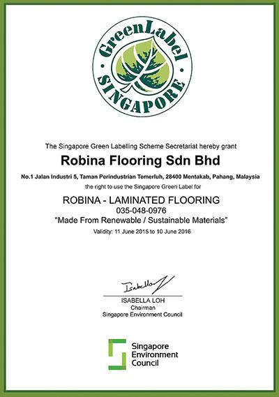Nhãn hiệu xanh của sàn gỗ Robina
