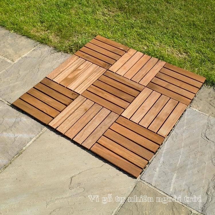 Vỉ gỗ tự nhiên ngoài trời