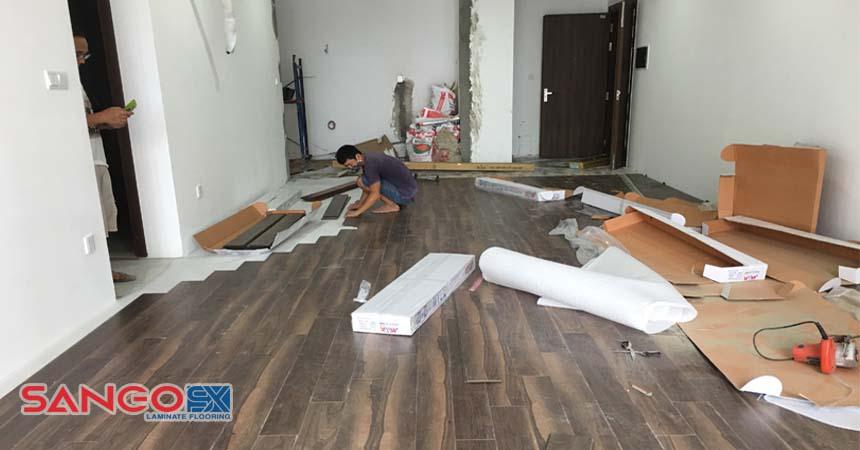 Giá thi công lắp đặt sàn gỗ công nghiệp
