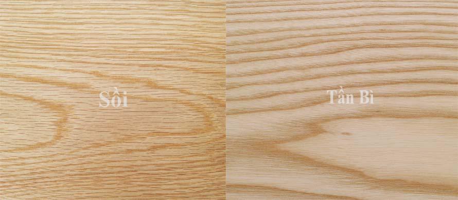 Nhận biết giữa sàn gỗ Sồi tự nhiên và tần bì