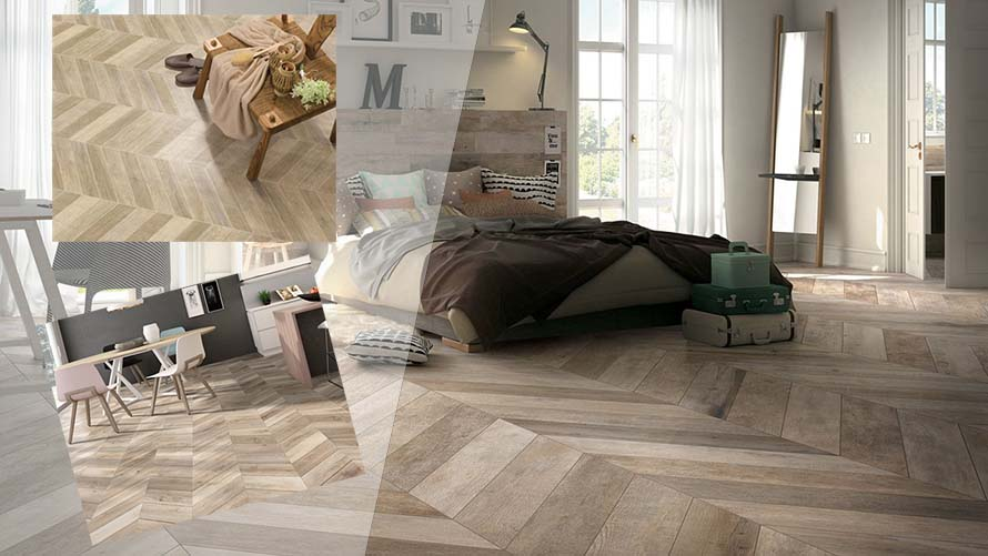 Sàn gỗ công nghiệp lát kiểu xương cá