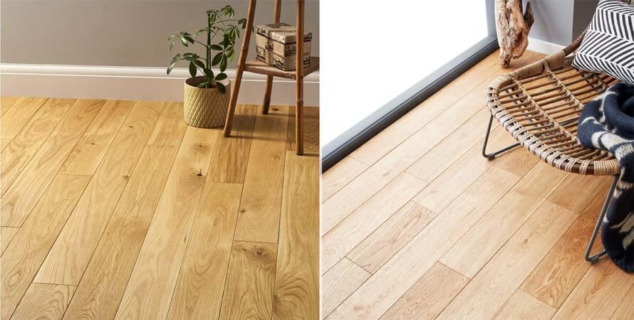 Ván sàn gỗ Sồi tự nhiên khi thi công lắp đặt