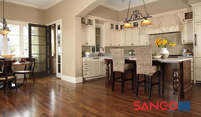 Có nên lắp sàn gỗ cho nhà bếp