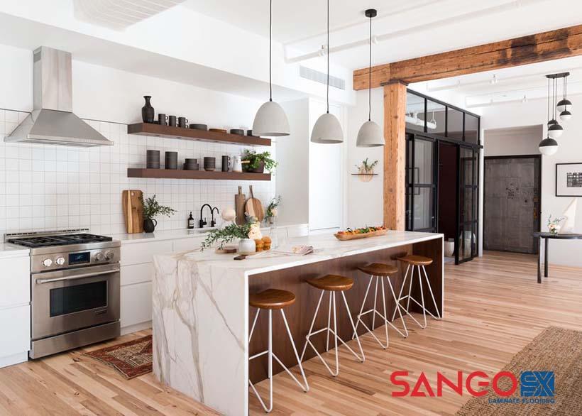 Sàn gỗ công nghiệp cho nhà bếp