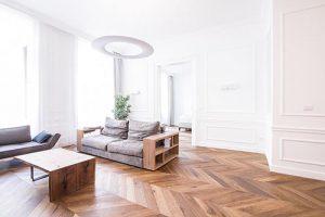 Cách chọn mẫu sàn gỗ công nghiệp cho phòng khách