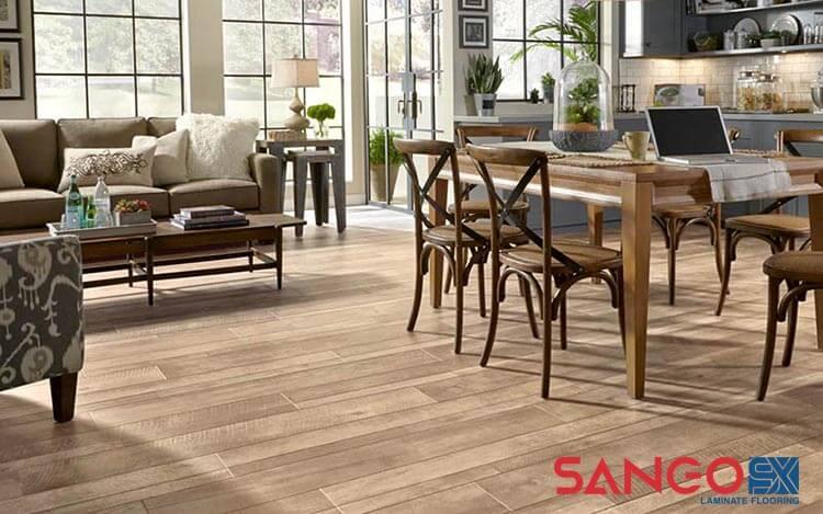 Sàn gỗ công nghiệp cho phòng khách 03