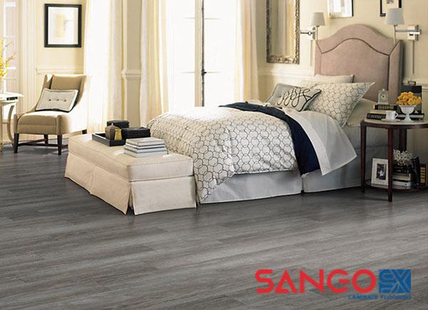 Mẫu sàn nhựa giả vân gỗ cho phòng ngủ