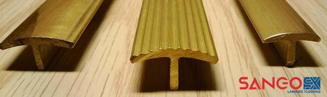 Mẫu nẹp đồng nguyên chất dùng cho sàn gỗ