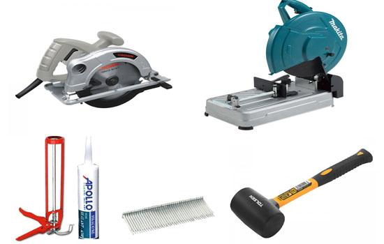 Các vật dụng cần thiết để thi công sàn gỗ