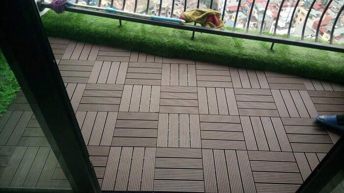 Cấu tạo của tấm vỉ gỗ nhựa lót sàn ngoài trời