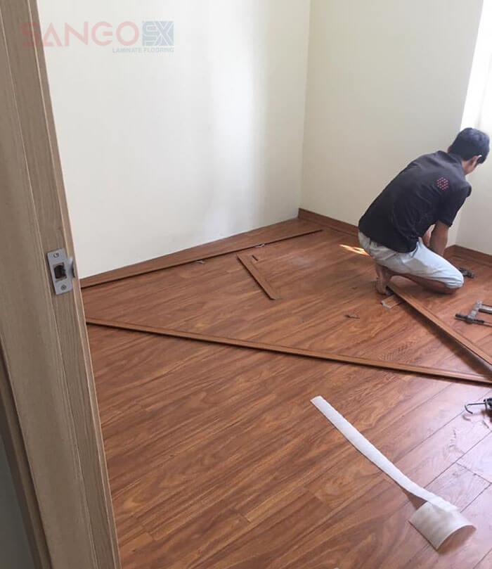 Công trình thi công sàn gỗ công nghiệp Thái Lan giá rẻ tại Hà Nội