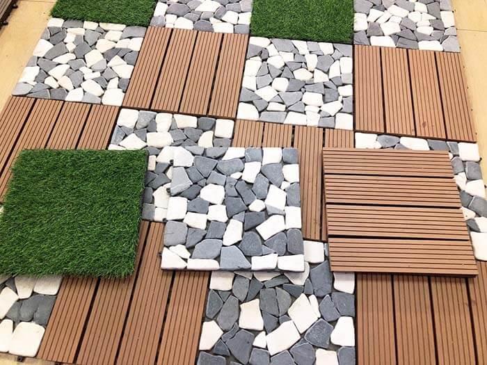 Mẫu vỉ gỗ nhựa lót sàn ngoài trời
