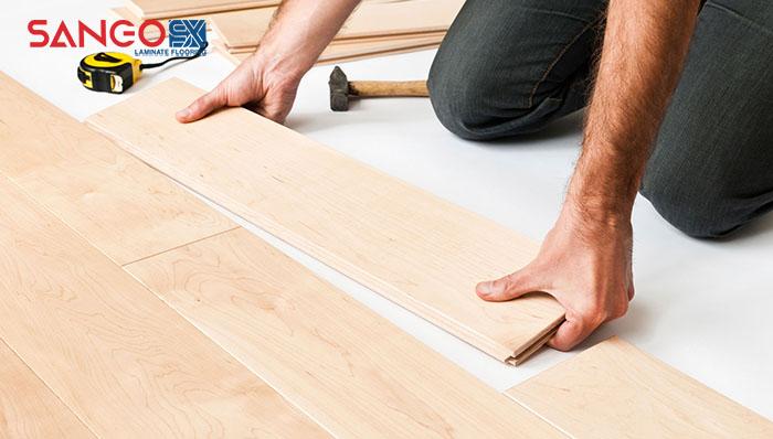 Các bước thi công sàn gỗ công nghiệp