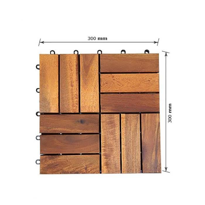 Vỉ gỗ tự nhiên lót sàn