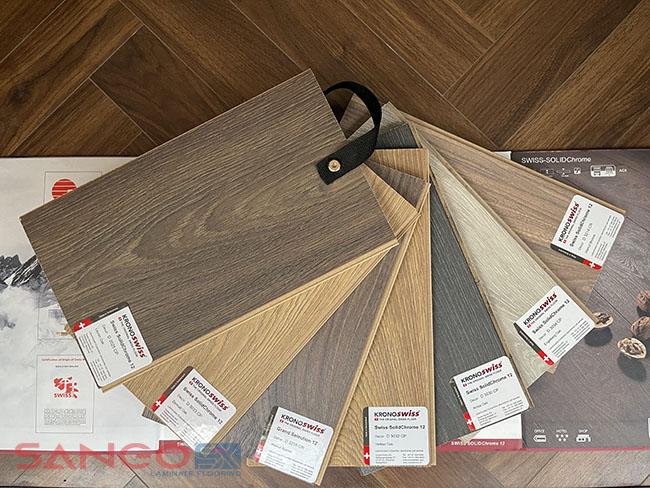 Sàn gỗ Kronoswiss 12mm bản to Thụy Sĩ