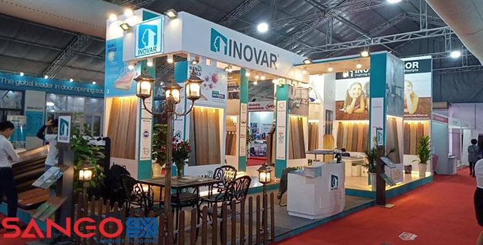 Sàn gỗ công nghiệp Inovar tại hội trở vật liệu xây dựng VietBuidl.